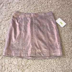 Free People rose gold skirt